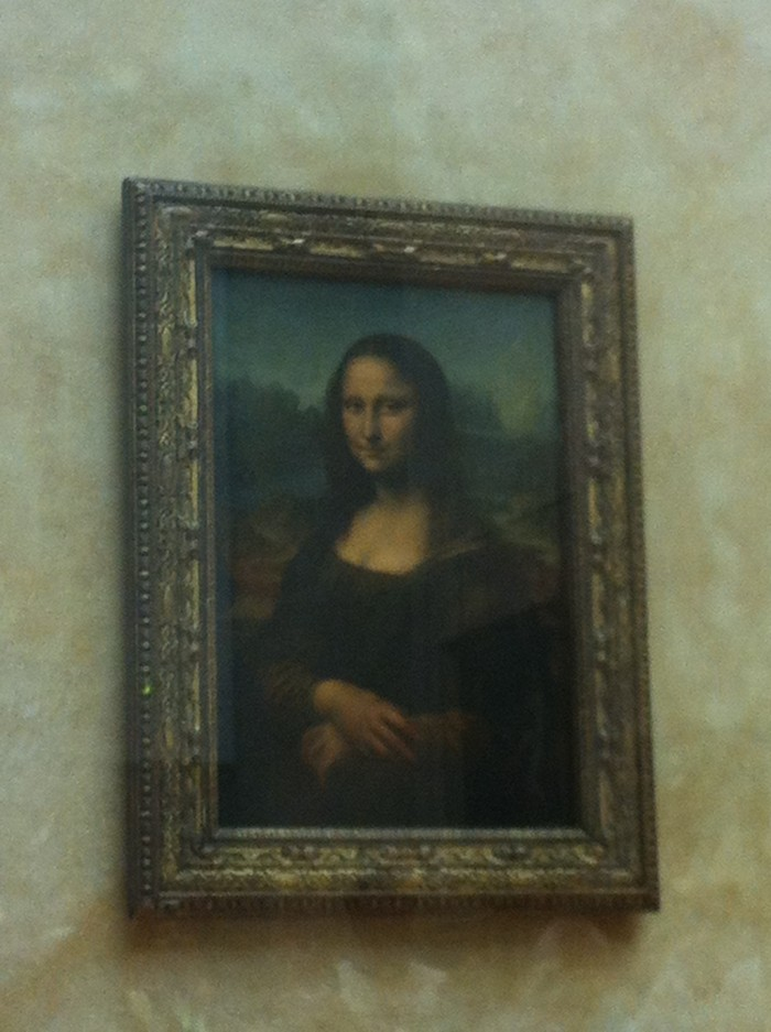 A Mona Lisa, obra mais famosa do Louvre