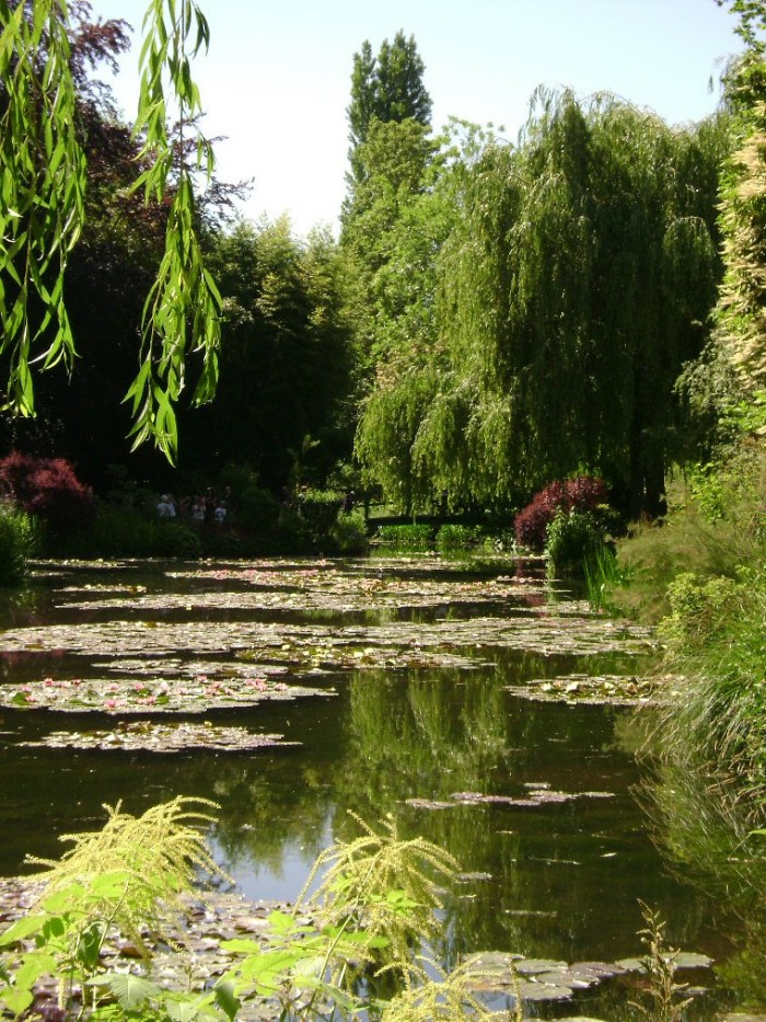 O famoso lago da casa de Monet, em Giverny. Foto de Vince