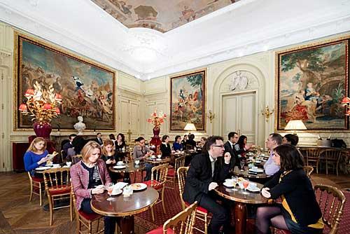 Sala de jantar do casal, hoje, restaurante do museu