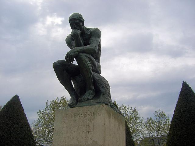 O Pensador no Museu Rodin em Paris
