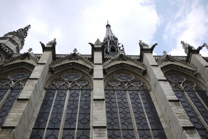A fachada da Sainte Chapelle