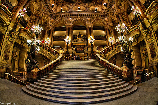 A grande escadaria da Opera.