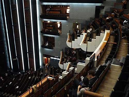 Sala de espetáculo da Opera Bastille