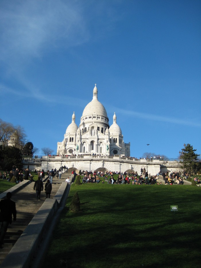 As escadas da Sacré Coeur