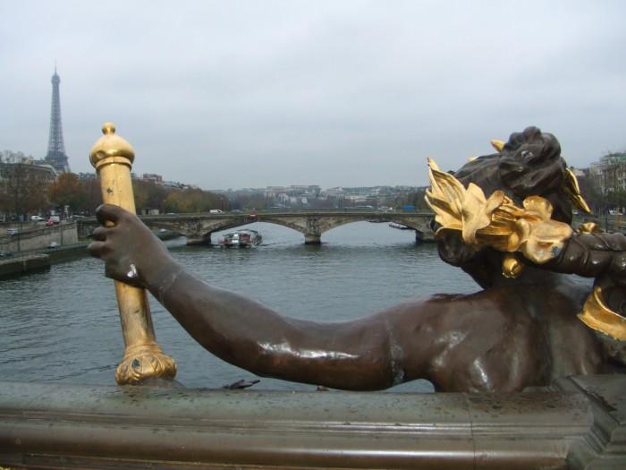 A ponte alexadre III, em Paris