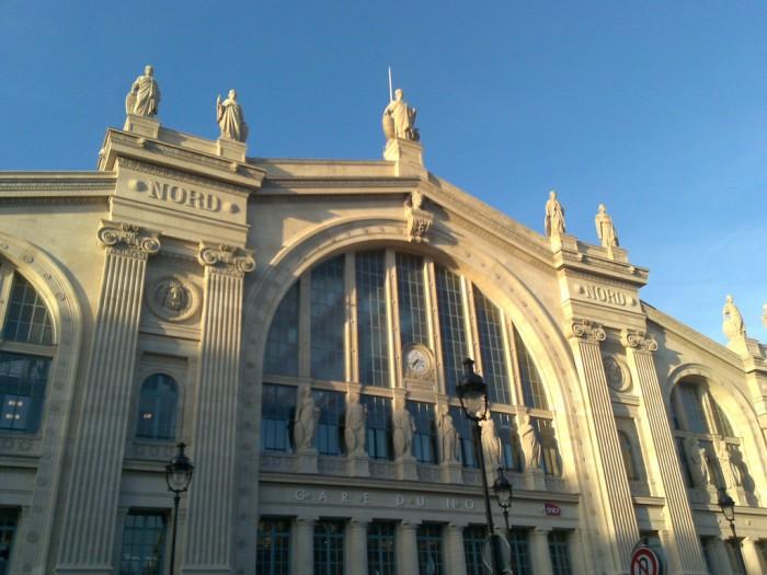 A fachada da Gare du Nord