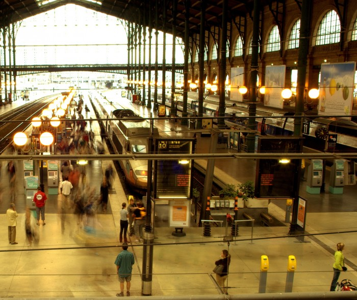 A plataforma da Gare du Nord