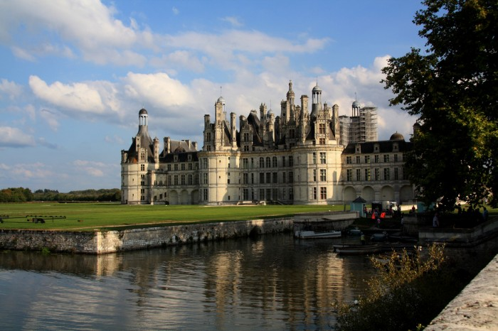 Castelo de Chambord no vale do loire