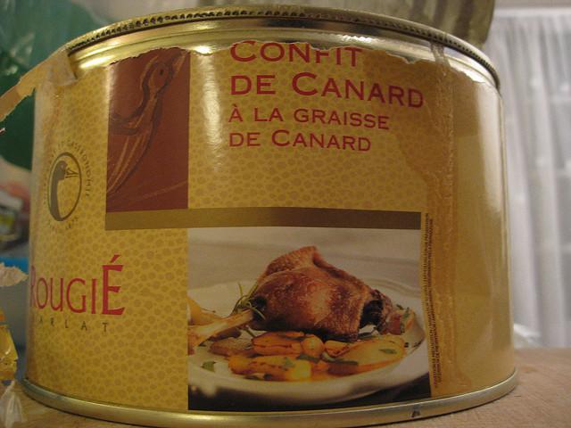 confit de canard em lata