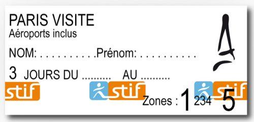 Passe Paris Visite para 3 dias Zonas 1 à 5