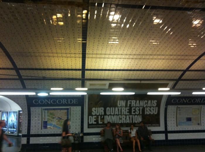 Estação de metrô Concorde em Paris