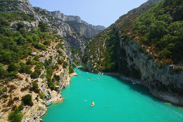 Os canyons Gorges du Verdon, no sudeste da França