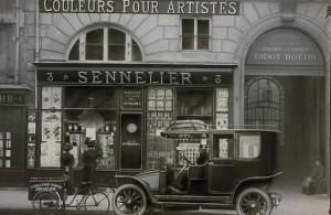 Fachada da loja Sennelier antigamente