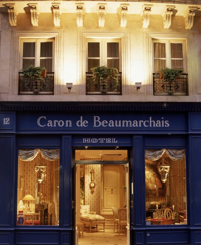 Hotel Caron de Beaumarchais, em Paris