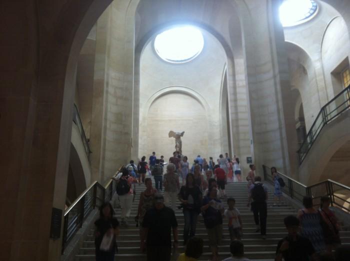 A Vitória de Samotrácia, no Louvre