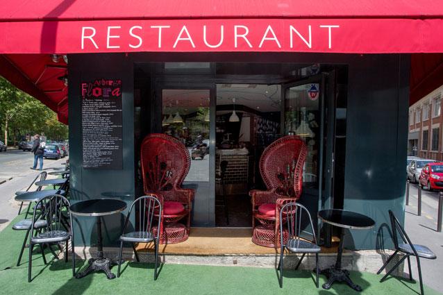 Restaurante e Hotel Flora em Paris