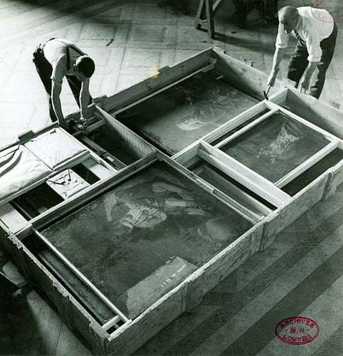 Embalo das obras do Louvre durante a segunda guerra mundial