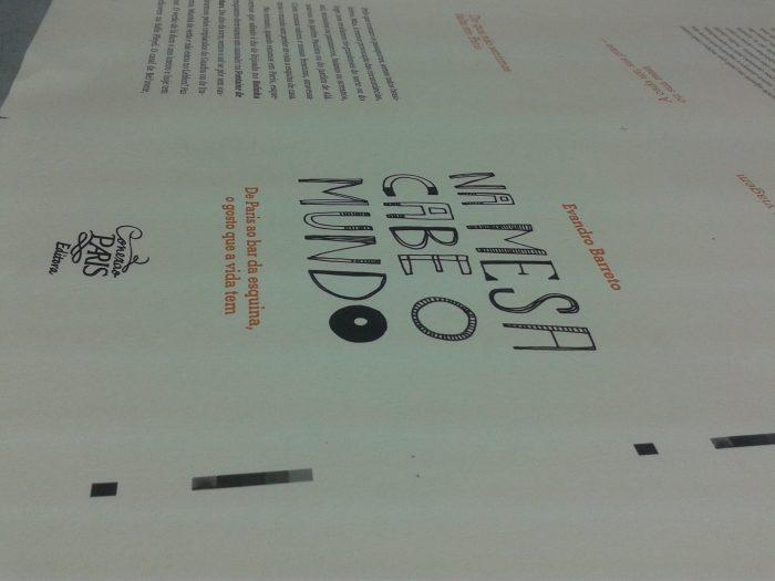 Na Mesa Cabe o Mundo, livro de Evandro Barreto
