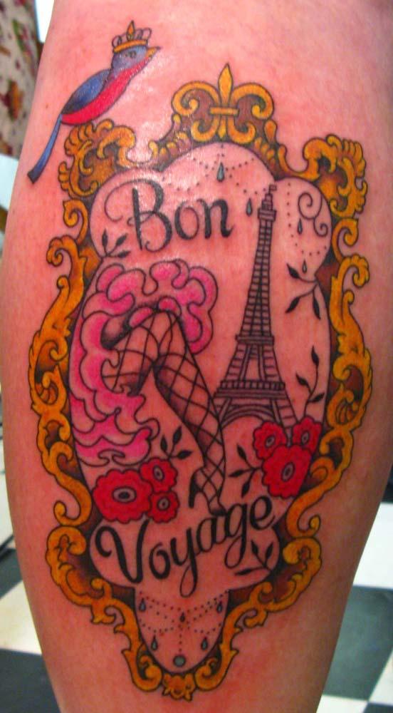 Tatuagem de Sunny Buick. Foto do site da artista.