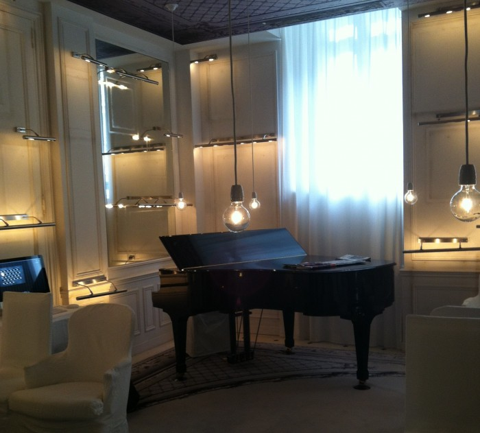 Piano no bar do hotel