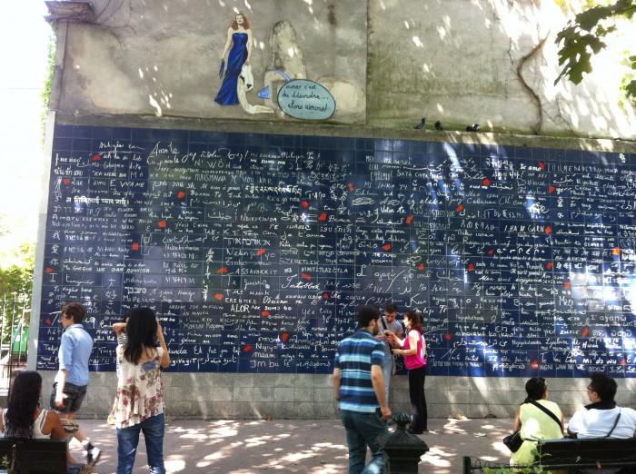 O muro dos Je t'Aime
