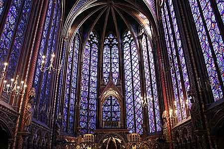 Sainte Chapelle na ilha de la Cité
