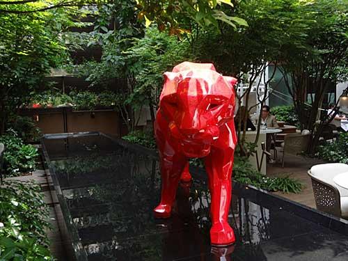Escultura do jardim