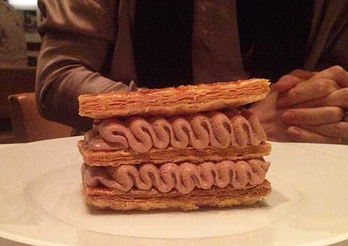 millefeuille de chocolate