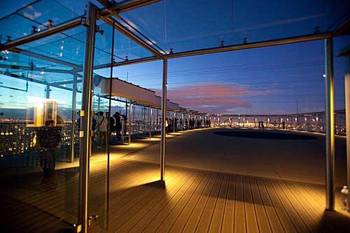 O terraço da torre Montparnasse