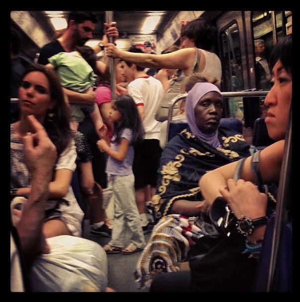 O metrô em Paris