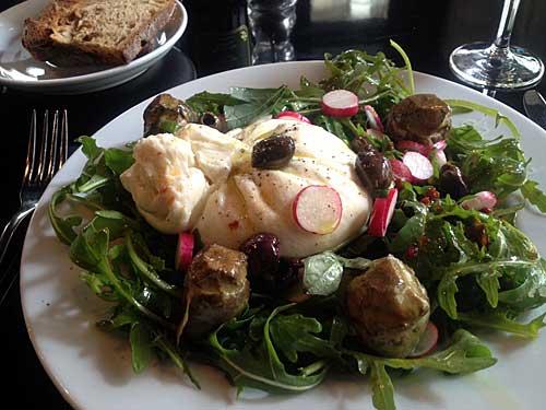 Salada de burrata