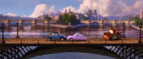 Paris, cenário de desenhos animados