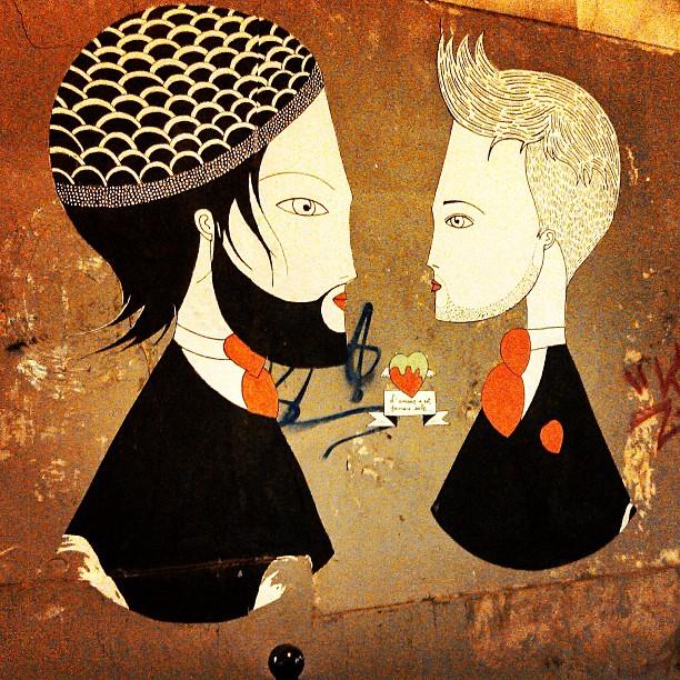 Foto de uma das obras de Fred Le Chevalier, ícone da street art de Paris
