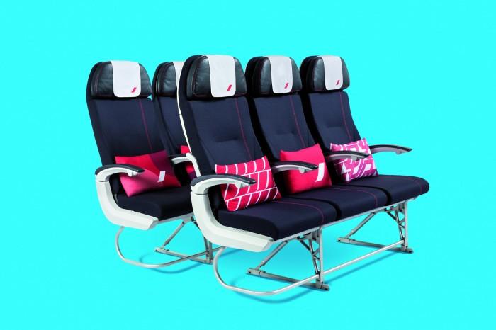 As novas cadeiras da classe econômica