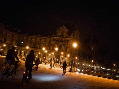 Chegada no Louvre