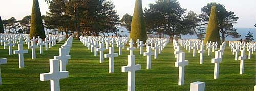Praia do desembarque, cemitério americano