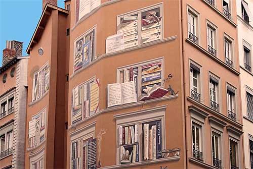 Pintura mural: A Biblioteca da Cidade