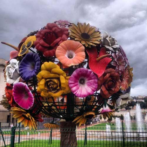 Árvore de flores