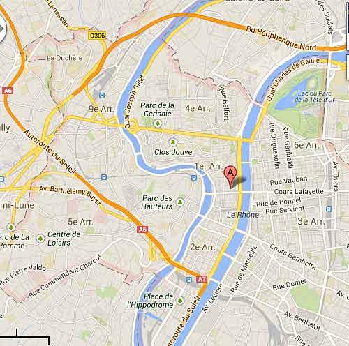 Mapa de Lyon, Google Maps