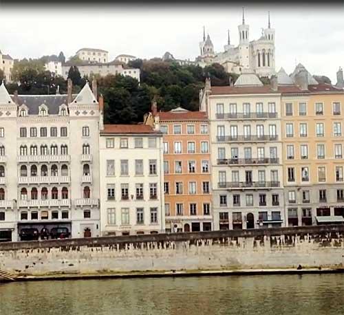 Vieux Lyon e Fourvière no alto da colina