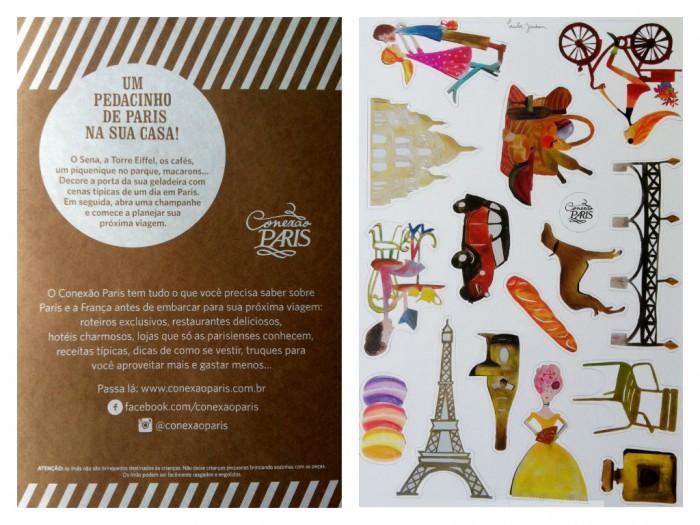 Frente e verso da embalagem do kit Cenas de Paris