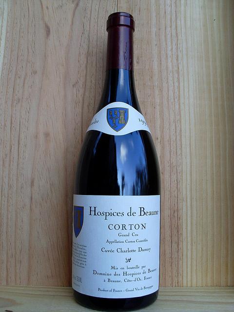 O vinho produzido da propriedade do hospice de Beaune.