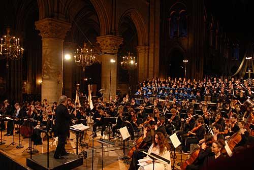 Música sacra na Notre Dame