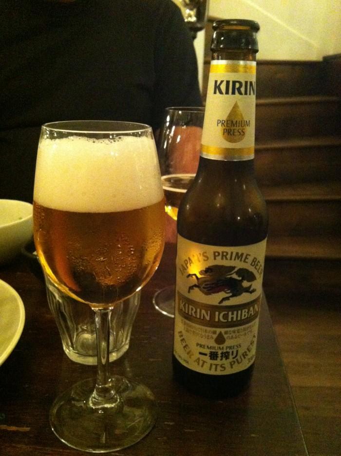 Cerveja japonesa no Kunitoraya
