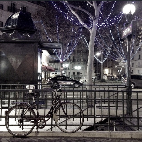 Luzinhas de Natal em Paris, foto de Tati Eterea