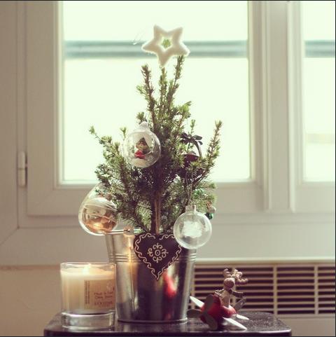 Árvore de Natal, dentro de casa. Foto de Hugo Chicanelli.