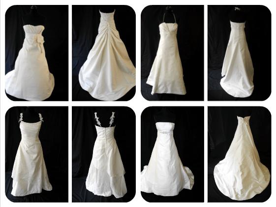 Quatro vestidos à venda na Graine de Cotton, de 287 a 1700 euros