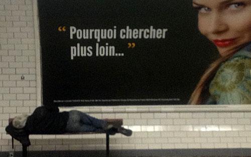 Mendigos do metrô