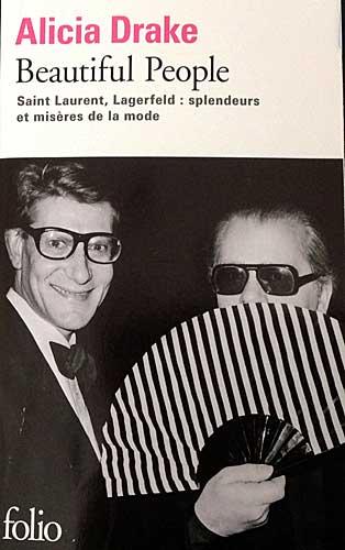 Yves Saint Laurent e Lagerfeld