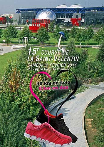 Maratona do dia dos namorados em Paris